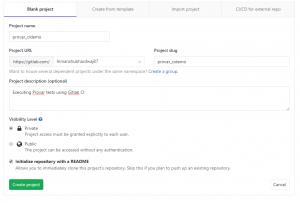 GitLab visibility screen