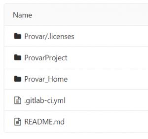 Screenshot of GitLab folder structure