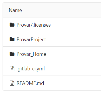 Screenshot of GitLab folder structure