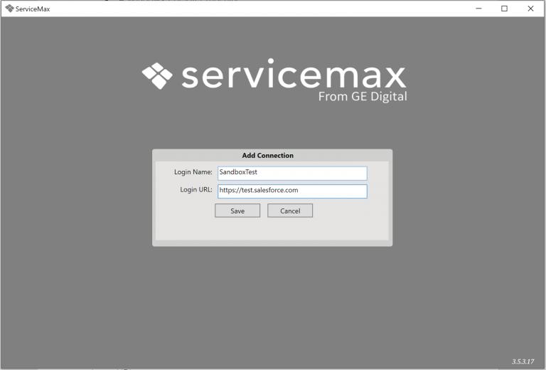 Servicemax Sandbox Test Screenshot