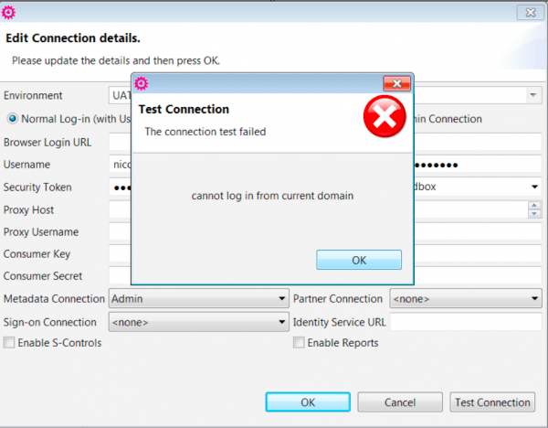 Salesforce Connection Issues