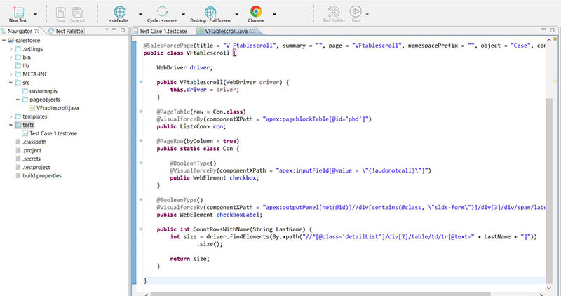 Image showing how to create a new page object operation from the Java Source tab