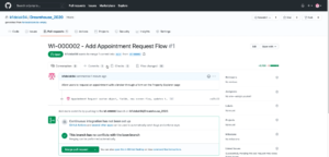 GitHub - Merge the pull request created by DevOps Center into the project mainline.