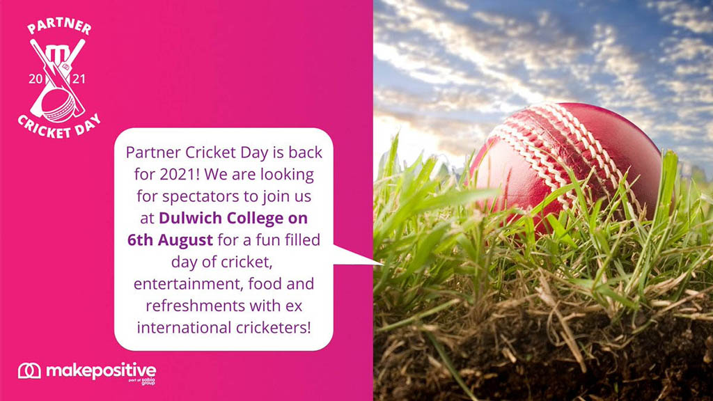 Makepositive team announcing Partner Cricket Dayand thanking Provar for sponsorship